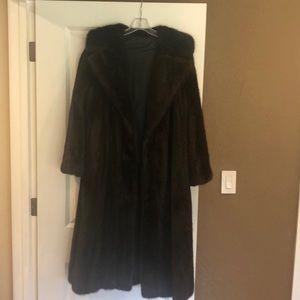 Jackets & Blazers - Fur Mink Coat-Chocolate Brown